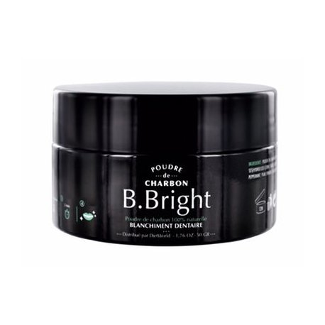 DietWorld B.Bright Poudre de Charbon Blanchiment Dentaire 50g