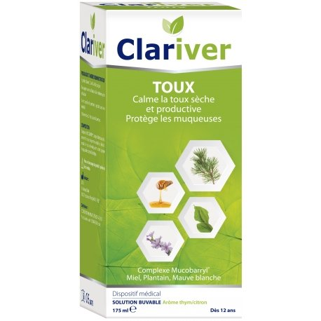 Cooper Clariver Toux Solution Buvable Arôme Thym/Citron 175ml