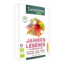 Santarome Bio Jambes Légères 20 ampoules de 10ml
