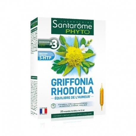 Santarome Bio Griffonia Rhodiola 20 ampoules de 10ml