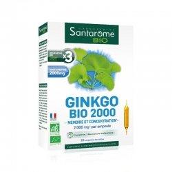Santarome Bio Ginkgo Bio 2000 20 ampoules de 10ml