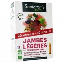 Santarome Jambes Légères Bio 30 ampoules