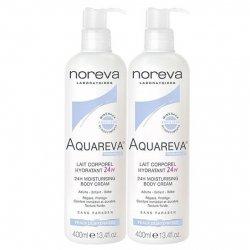 Noreva Aquareva Lait Corporel Hydratant 24H Lot de 2 x 400ml