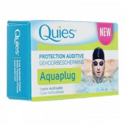 Quies Aquaplug Protection Auditive 1 paire réutilisable