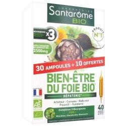 Santarome Bien-Etre du Foie Bio 30 ampoules + 10 offertes