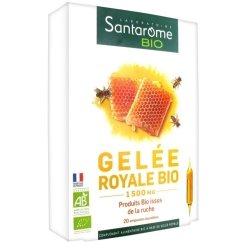Santarome Bio Gelée Royale Bio 1500 20 ampoules de 10ml