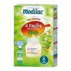 Modilac Mes Céréales 4 Fruits avec Quinoa Bio 230g