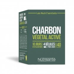 Charbon vegetal active caps 40