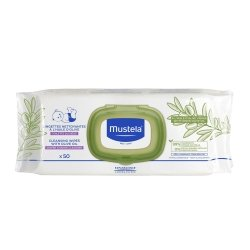 Mustela Lingettes Nettoyantes à l\'Huile d\'Olive 50 unités