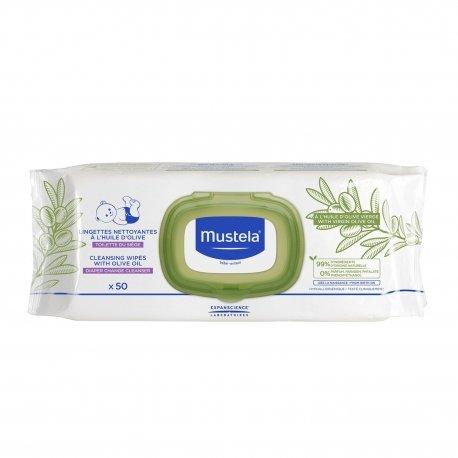 Mustela Lingettes Nettoyantes à l'Huile d'Olive 50 unités