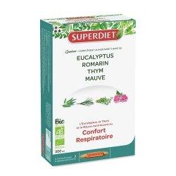 Superdiet Quatuor Mauve Confort Respiratoire Bio 20 ampoules de 15ml