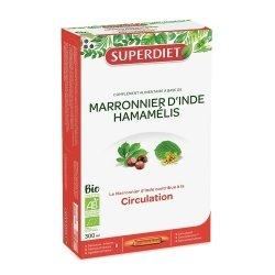 Superdiet Marronnier d\'Inde Hamamélis Bio 20 ampoules de 15ml