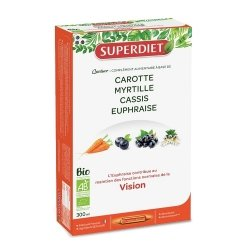 Superdiet Quatuor Euphraise Vision Bio 20 ampoules de 15ml