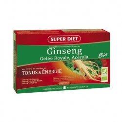 Superdiet Pack Ginseng Gelée Royale Acérola Bio 2 x 20 ampoules de 15ml