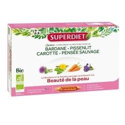 Superdiet Quatuor Bardane Beauté de la Peau Bio 20 ampoules de 15ml