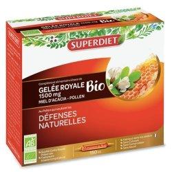 Superdiet Gelée Royale Miel Pollen Bio 10 ampoules de 15ml