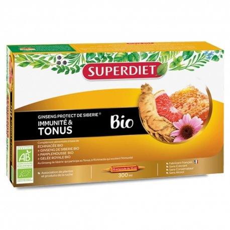 Superdiet Ginseng Protect Bio 20 ampoules de 15ml