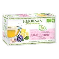 Herbesan Bio Infusion Allaitement Saveur Citron n°7 20 sachets
