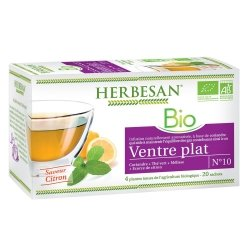 Herbesan Bio Infusion Ventre Plat Saveur Citron n°10 20 sachets