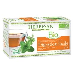 Herbesan Bio Infusion Digestion Facile Saveur Menthe n°3 20 sachets