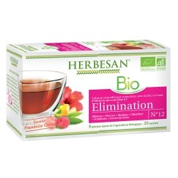 Herbesan Infusion Elimination Saveur Framboise Citron n°12 20 sachets