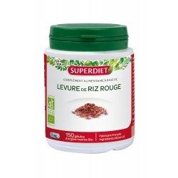 Superdiet Levure de Riz Rouge Bio 150 gélules