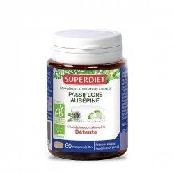 Superdiet Passiflore Aubépine Bio 80 comprimés