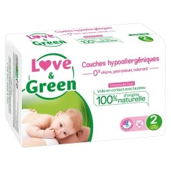 Love & Green Couches Hypoallergéniques Taille 2 36 couches