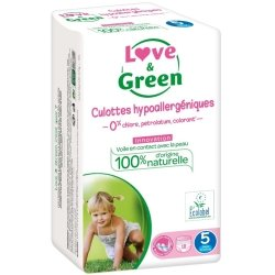 Love & Green Culottes Hypoallergéniques Taille 5 18 culottes