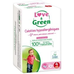 Love & Green Culottes Hypoallergéniques Taille 4 20 culottes
