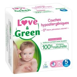 Love & Green Couches Hypoallergéniques Taille 5 40 couches