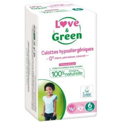 Love & Green Culottes Hypoallergéniques Taille 6 16 couches