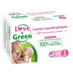 Love & Green Couches Hypoallergéniques Taille 1 23 couches