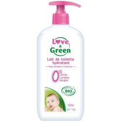 Love & Green Lait de Toilette Hydratant Bio 500ml