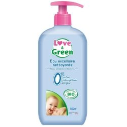 Love & Green Eau Micellaire Nettoyante Hypoallergénique Bio 500ml
