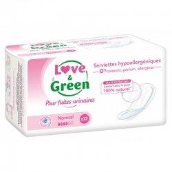 Love & Green Serviettes Hypoallergéniques Incontinence Normal 12 pièces