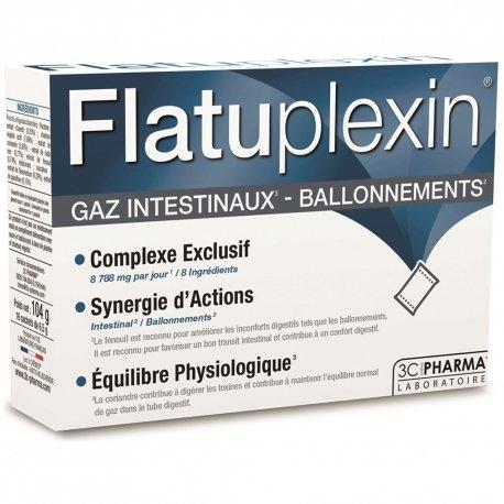 3C Pharma Flatuplexin Gaz Intestinaux Ballonnements 16 sachets
