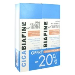 CicaBiafine Crème Hydratante Corporelle Anti-irritations 2 x 200ml