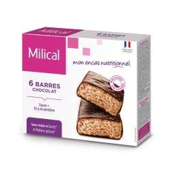 Milical Barres Hyperprotéinées Saveur Chocolat 6 Barres