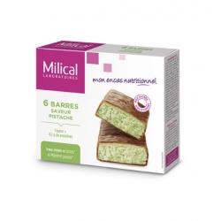 Milical Barres Hyperprotéinées Saveur Pistache 6 Barres