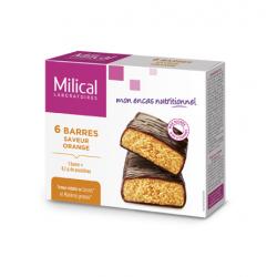 Milical Barres Hyperprotéinées Saveur Orange 6 Barres