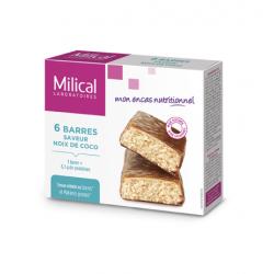 Milical Barres Hyperprotéinées Saveur Noix de Coco 6 Barres