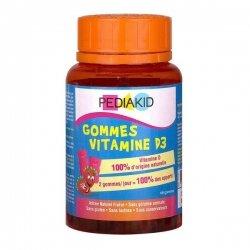 Pediakid Gommes Vitamine D3 Goût Fraise 60 gommes