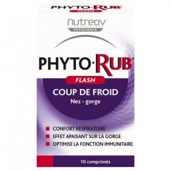 Nutreov PhytoRub Flash Nez & Gorge 10 comprimés