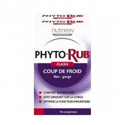 Nutreov PhytoRub Flash Nez & Gorge 2 x 10 comprimés