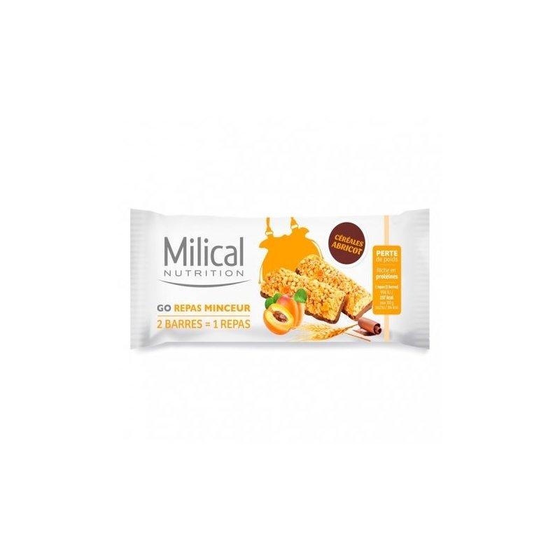 Milical Nutrition Go Repas Minceur 2 Barres Chocolat..