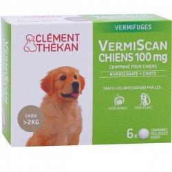 Clément Thékan VermiScan Vermifuges Chiens 100mg 6 comprimés