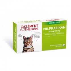 Clément Thékan Milprazikan Vermifuges Chats 2 comprimés