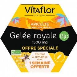 Vitaflor Gelée Royale Bio 1500mg 20 ampoules de 15ml (1 SEMAINE OFFERTE)