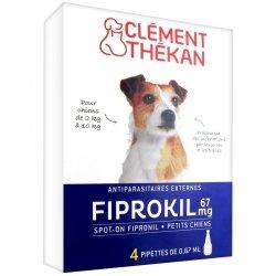 Clément Thékan Fiprokil 67mg Petits Chiens 4 pipettes